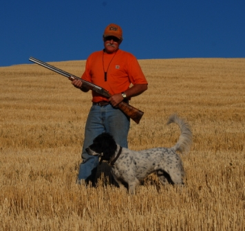 Paul and True hunting Huns on the Palouse